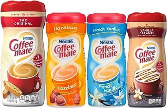 Coffee Mate Powdered Creamer Variety 4 Pk, 1 of each of the following: Original, Hazelnut, French Vanilla, Vanilla Caramel