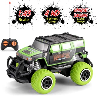 Remote Control Car, RC Cars for Kids, 1:43 Scale 4WD Off-Road Vehicle Toy High-Speed Racing Car Climbing Car Gift for Boys Girls with Controller (Battery Not Included)