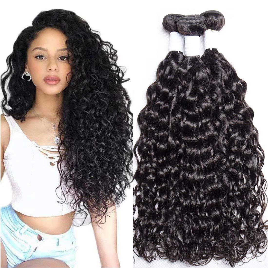 Brazilian Water Wave Hair 10A Max 68% OFF Grade 55% OFF Unprocessed Bundles 100% 4 V