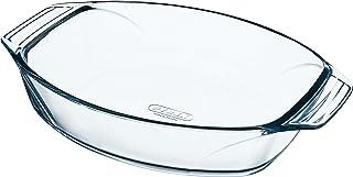 pyrex 412B000/6114 40 x 28 cm Large Optimum Glass High Resistance Easy Grip Oval Roaster