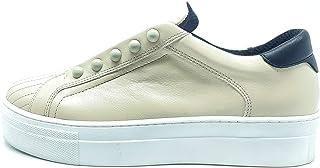 Tosca Blu Romantic Beige Sneakers in Pelle