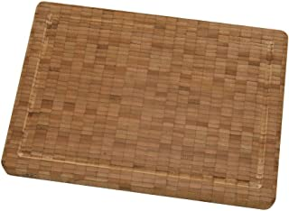 """ZWILLING J.A. Henckels Bamboo Cutting Board, 14"""" x 10"""" x1.5"""", Stainless Steel"""
