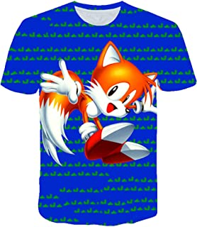 EXV Sonic The Hedgehog Kids 3D Short Sleeve Shirts Casual Graphics Tops Tee for Girls and Boys