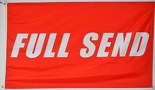 Annfly Full Send Banner Flag 3x5Ft Nelk Nelkboys for The Boys Red Banner
