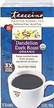 Teeccino Dandelion Dark Roast Herbal Tea Caffeine-Free Gluten-Free, 25 Tea Bags