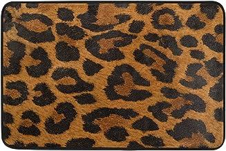 JSTEL Nonslip Door Mat Home Decor, Vintage Colorful Leopard Skin Durable Indoor Outdoor Entrance Doormat 23.6 X 15.7 Inches