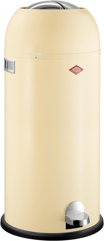Wesco Kickmaster Maxi, Abfallsammler, Tretabfallsammler, Mülleimer, Mandel, Stahlblech, 40 L, 180731-23 B004QZ4N8K