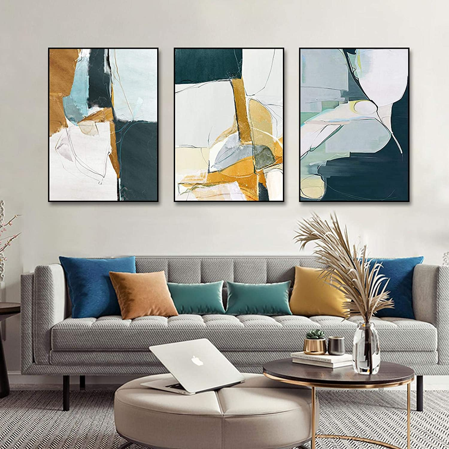 Modern Abstract Painting In stock Posters Indianapolis Mall Canvas Print Wall Art