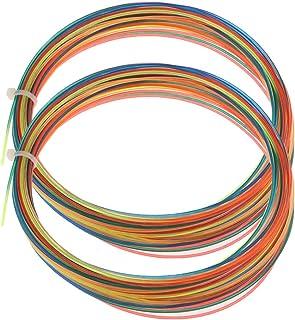 Perfeclan 2 Reels Racquet Strings 12m 1.3mm for Tennis Squash Badminton Racquetball - Rainbow Color