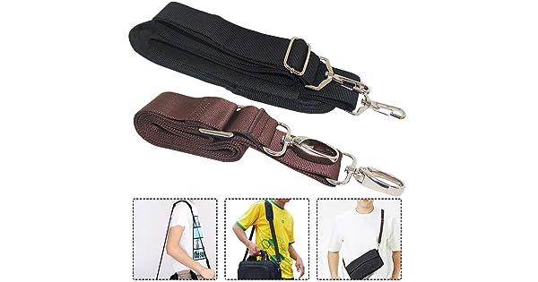AFUNTA 57 59 Adjustable Bag Belts with Metal Swivel Hooks for Luggage Duffel Bag Laptop Case Black Brown AF-shoulder/_strap 2 Packs Universal Replacement Shoulder Straps