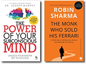 The Power of your Subconscious Mind + The Monk who sold his Ferrari (2 Books Combo with Free Customized Bookmarks)