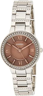 Fossil Virginia Three-Hand Stainless Steel Watch