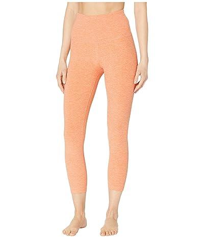 Beyond Yoga Spacedye High-Waisted Capri Leggings (Coral Dust/Melon) Women