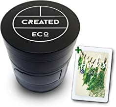 Herb Mill for Chopping, Grinding and Milling Herbs, Fresh and Dried, 4 Piece, Large Size 60mm | A Gourmet Gift for Men and Women