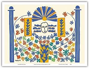 Apollo (Apollon) - Artist Model for a Ceramic Tile Mural by Henri Matisse c.1953 - Master Art Print - 9in x 12in