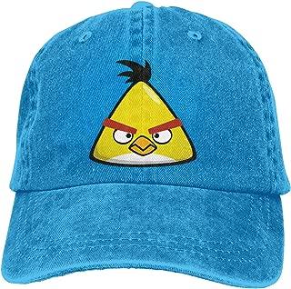 DADAJINN Angry Birds Adjustable Travel Cotton Washed Denim Hat Gray