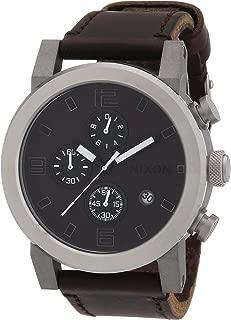 Nixon Men's Quartz Watch The Ride Brown / Black A315562-00 with Leather Strap