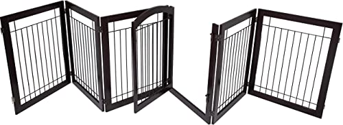2021 BIRDROCK HOME Indoor Dog Gate with Door - 6 Panel - 30 Inch Tall - high quality Enclosure Kennel Pet Puppy Safety Fence Pen outlet sale Playpen - Durable Wooden and Wire - Folding Z Shape Free Standing online sale