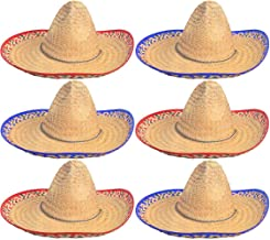 4E's Novelty Sombrero Hats Bulk 6 Pack Fits Most Men and Women Cinco de Mayo Fiesta Theme Party Costume