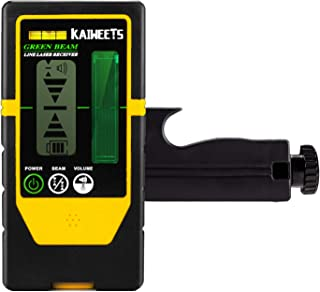 KAIWEETS レーザー墨出し器専用 受光器 レーザーレシーバー KT360A専用受光器 精度調節 音量調節可能 両面LCDディスプレー バックライト ホルダー付き(LR100G)