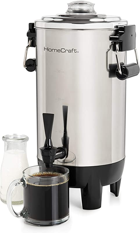 Nostalgia HomeCraft CU30SS Quick Brewing 1000 Watt Automatic Coffee Urn 30 Cup Stainless Steel