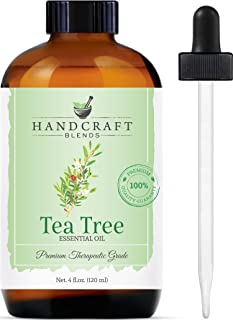 Handcraft TeaTree Essential Oil - 100 Percent Pure and Natural - Premium Therapeutic Grade with Premium Glass Dropper - Huge 4 oz