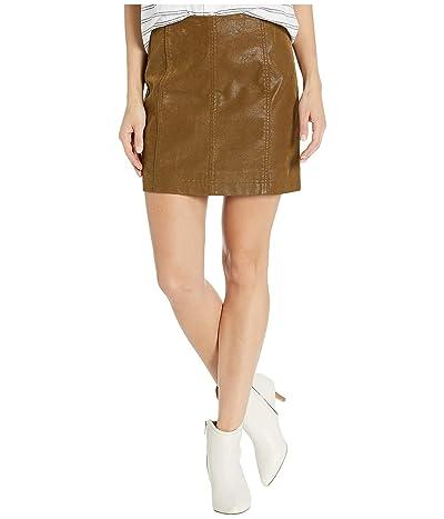 Free People Modern Femme Vegan Suede Mini Skirt (Cedar) Women