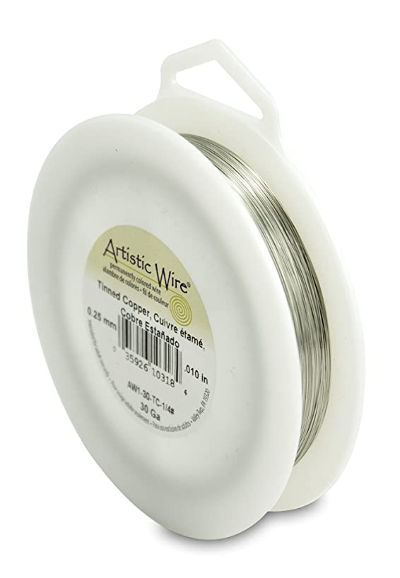 Artistic Wire 30-Gauge Tinned Copper Wire, 1/4-Pound