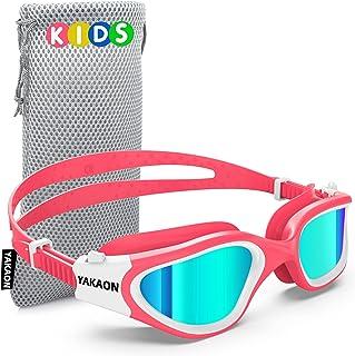 Kids Swim Goggles, YAKAON Polarized Swimming Goggles for...