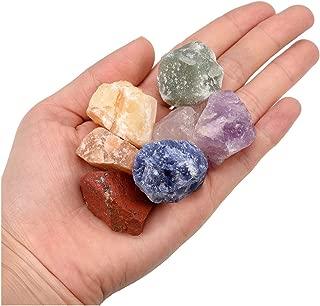 Jovivi 7 Chakra Healing Crystals Mixed Natural Rough Raw Stones for Tumbling,Cabbing,Reiki Energy - 0.95
