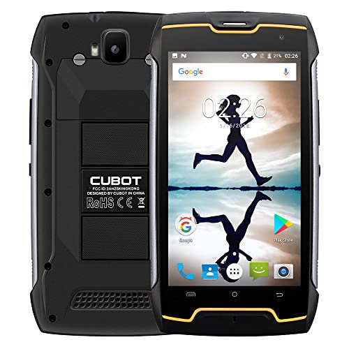 Cubot Kingkong Tri-Proof Smartphone 3G, 5.0 Pollici HD Schermo Android 7.0 Telefono Cellulari, MT6580 Quad Core 1.3GHz, 2G RAM 16G ROM,13MP+8MP Camera,Smartphone Dual sim,GPS,WiFi - Nero