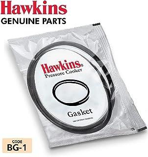 HAWKINS Rubber Gasket Sealing Ring for 2-4 L Pressure Cookers (Black) - Set of 2