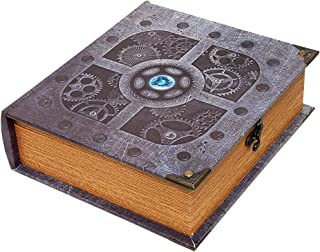 Wizardry Foundry Grimoire Deck Box, Artificer   Large Wooden Spellbook Style Fabric Lined Deck or Cube Box for MTG, Yugioh, and Other TCG   1000+ Card Capacity