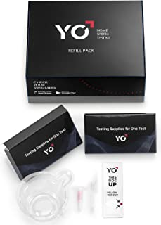 Refill Kit | 2 Additional Tests for YO Home Sperm Test | Motile Semen Analysis | YO Testing Device NOT Included - Refill Pack Only | Choose: 4 Pack, 2 Pack