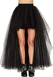 Dannifore Women's Mesh Tulle High Low Dance Party Skirt A-Line Petticoat for Dresses
