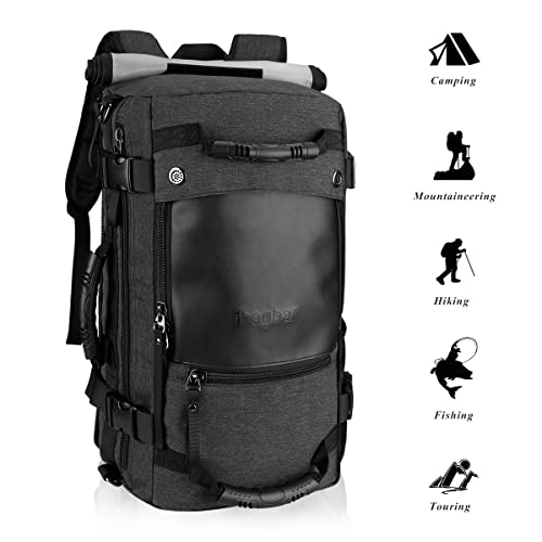 0f2052db7213 Ibagbar Canvas Backpack Travel Bag Hiking Bag Camping Bag Rucksack