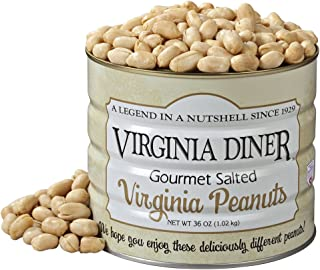 Virginia Diner Gourmet Salted Virginia Peanuts, 36 Ounce Tin