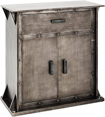 Haku Moebel Console, MDF, Anthracite, 35 x 69 x 75 cm