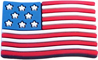 USA American Flag Rubber Charm for Wristbands and Shoes
