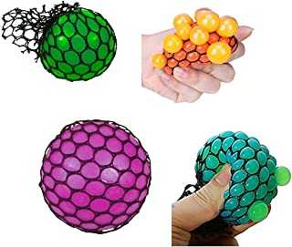 Tokari wala Mesh Squishy Ball Squish Balls for Stress Relief Hand Movement Gag Toy (Multicolour) - Pack of 1