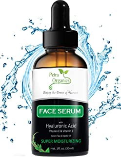 Face Serum Vitamin C Hyaluronic Acid - Anti Aging Serum for Face - Pure Hyaluronic Acid with Vit C Serum - Hydrating Serum...