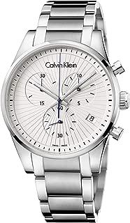 Calvin Klein Mens Chronograph Quartz Watch with Stainless Steel Strap K8S27146