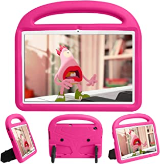 CLARKCAS Kids Case for Huawei MediaPad T5 (10.1 Inch), Shockproof Durable Bumper Handle Stand Rugged Lightweight Protectio...