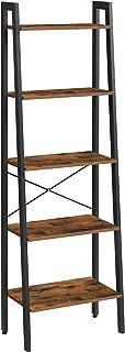 "VASAGLE Ladder Shelf, 22.1""L x 13.3""W x 67.7""H, Rustic Brown"
