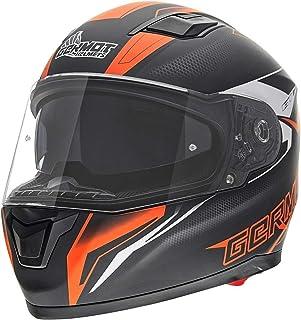 Germot GM 330 Dekor Helm Schwarz Matt/Orange XS 53/54