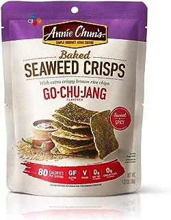 Annie Chun's Baked Seaweed Crisps, Gochujang Flavor, 1.27-ounce (10-Pack), Thin & Crispy Chips
