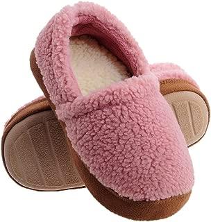 Shoeslocker Little Kids Indoor Warm Plush Slippers