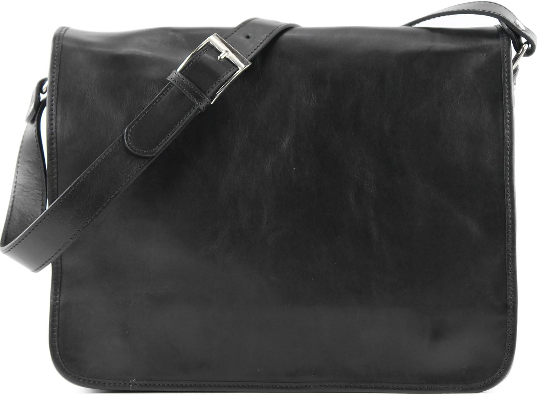 modamoda de - Ital sac à bandoulière 3 modèles/tailles en cuir A001 A001 Grand Noir