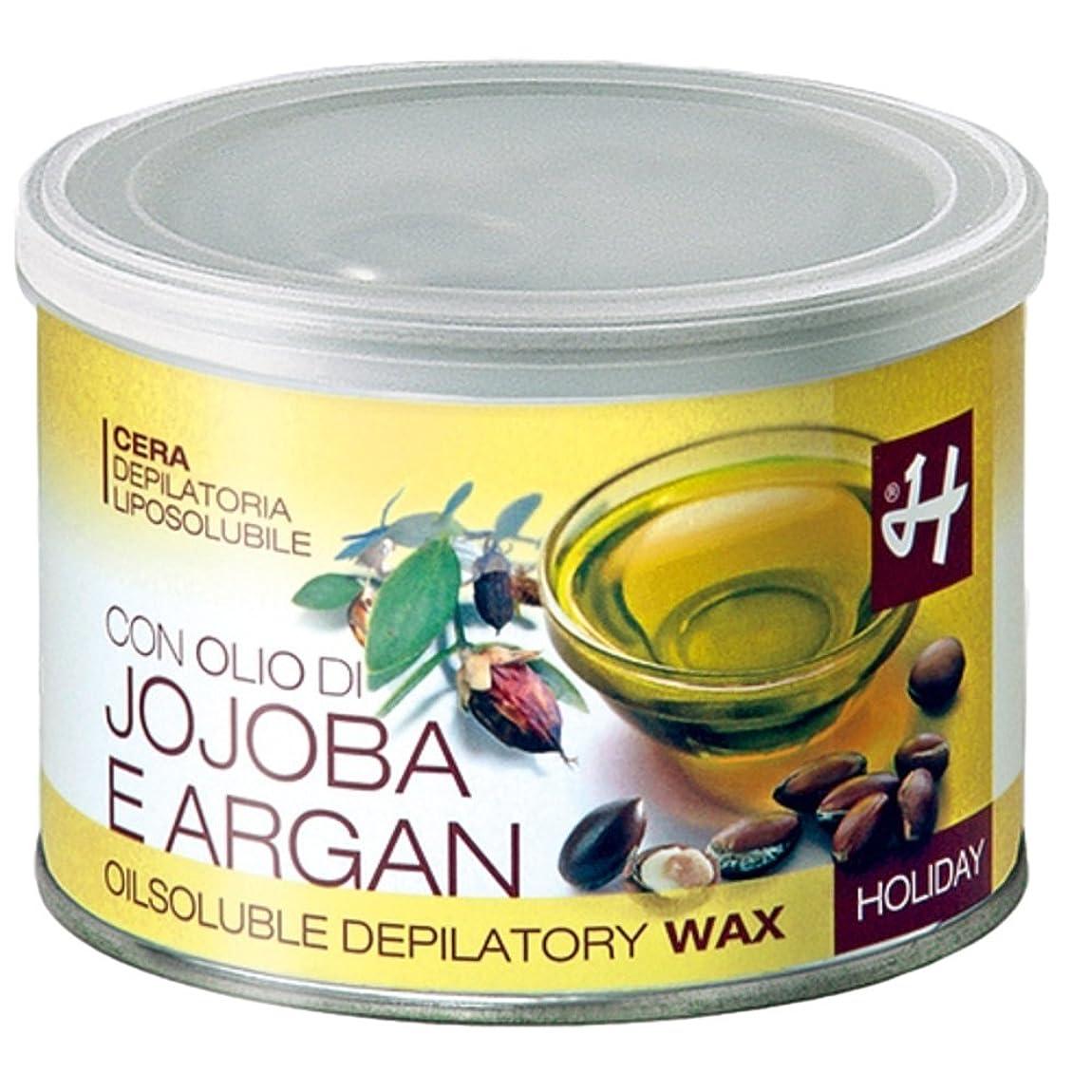 穏やかな食物眠りHOLIDAY JAPAN (ホリデイジャパン) ホホバ&アルガンオイル?エレメンツ ロジンフリーワックス 400ml イタリア製 ブラジリアンワックス WAX
