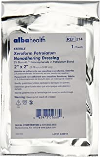 Dukal 214 Alba Xeroform Petrolatum Gauze, Sterile, 2